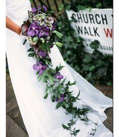 Trailing bridal bouq