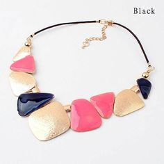 [Visit to Buy] Jewelry Wholesale 3 Colors 2014 New Good Quality Fashion Geometry Choker Necklaces For Women Statement Collar Necklace Metal Necklaces, Jewelry Necklaces, Chain Jewelry, Jewelry Findings, Jewelry Sets, Pendant Jewelry, Pendant Necklace, Pink Necklace, Popular Necklaces