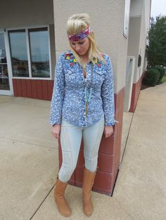 Bleached Floral Pearl Snap Shirt | Hyp Boutique