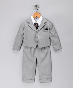 So cute! Suit set for the little man from Angels in New York in #zulily today.
