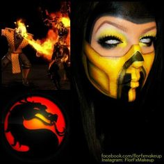 Wow, this is so bad ass! Flor fx Makeup created this Mortal Kombat Scorpion inspired look using Sugarpill Buttercupcake and Tako. Her looks are always so creative, fun, and perfectly executed!