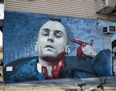 Taxi Driver street art by bkfoxx in NY