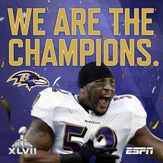 Feb. 4 ESPN Destiny, fulfilled. The Baltimore @Ravens are Super Bowl Champions.