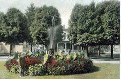 Ligonier Indiana, triangle park and fountain