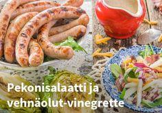 Thüringenin Hansin pekonisalaatti ja vehnäolut-vinegrette, Resepti: Hookoo  #kauppahalli24 #resepti #hookoo #pekonisalaatti #salaatti #vinegrette #kesäruoka