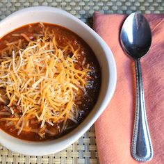 Gluten free Crockpot Chili!! If you like vegetarian chili, double the beans. If you like meaty chili, double the meat.