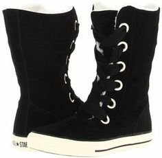 Converse Kids - Chuck Taylor All Star Beverly Boot Lace X-Hi (Little Kid/Big Kid) (Black/Egret) - Footwear on shopstyle.com