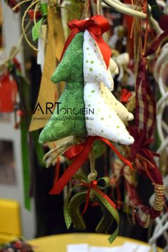 Handmade Christmas ornaments at ARTopoiein jewels!
