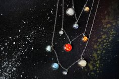 Layered Solar System Galaxy Necklace Elegant by jerseymaids