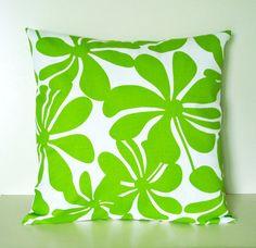 Green Pillow Cover 20x20 Throw Pillows Accent Decorative Cotton Contemporary Home Decor $18
