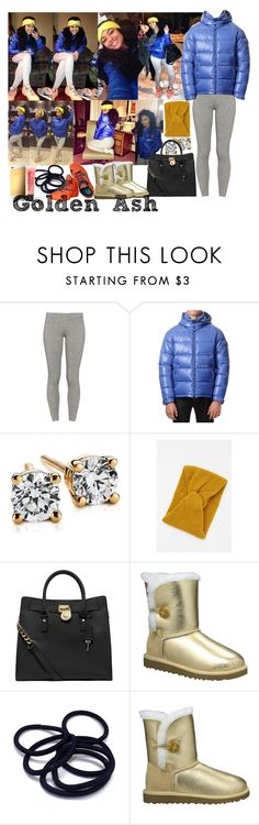 """""""Lebron UGG Michael Kors Snow"""" by fashionsetstyler ❤ liked on Polyvore featuring TNA, Moncler, Blue Nile, MICHAEL Michael Kors, UGG Australia, NIKE and Forever 21"""