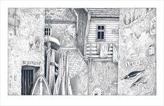 Einar Turkowski: Die Nachtwanderin (Standardausgabe). mixtvision Verlag. #kunst #illustration #bleistift #zeichnung #standardausgabe #bilderbuch