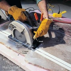How to Cut Marble: A circular saw and a garden hose is all you need to cut your marble slab Read more: http://www.familyhandyman.com/kitchen/countertops/how-to-cut-marble/view-all#