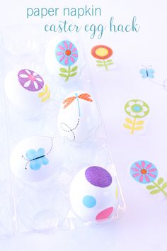 Learn how to easily decorate Easter eggs with @kimbyers using only paper napkins and egg wash!