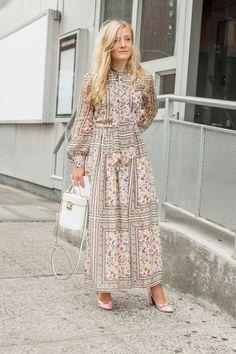 70's boho maxi dress