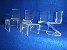 Clear Acrylic Chairs and Tables Modern Plastic Kitchen Doll House Furniture | eBay