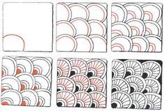 Zentangle+Patterns+Step+By+Step | BLOG.SUZANNEMCNEILL.COM: A Little Halloween Zen