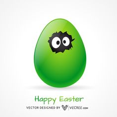 Happy Easter Egg With Eyes Popping From Inside Free Vector Download - https://vecree.com/6743922/happy-easter-egg-with-eyes-popping-from-inside-free-vector-download/