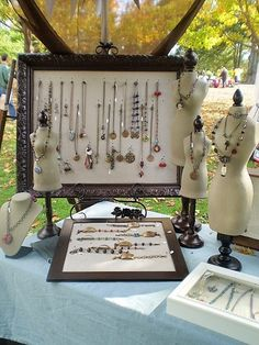 Use frames and mannequins to build height and provide interest on your craft stall. Go to Cybelle.com.au