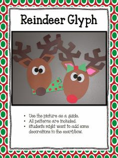 Reindeer glyph, graph, and questions!!!!