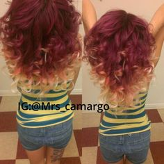 Burgundy And Blonde Ombre Hair