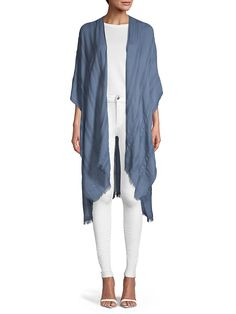 Striped Open Ruana Tibi Dresses, Saks Fifth Avenue, Duster Coat, Kimono Top, Jackets, Tops, Women, Products, Fashion