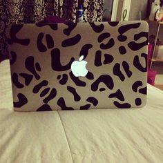 Lepard print laptop
