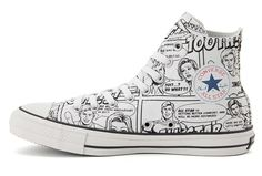 1f9dfbadc12d4e California Converse Converse Iconic Comics Chuck Taylor All Star High Tops  Shoes Grey - Converse Chuck Taylor All Star with Iconic Comics printed high  tops ...