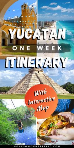 Yucatan Mexico: One Week Travel Itinerary - A complete 1 week travel itinerary guide for Mexico's Yucatan peninsula. What to see and do where to stay hidden gems how to get around top tips hacks and budget travel advice. Mexico Vacation, Mexico Travel, Canada Travel, Travel Usa, Globe Travel, Travel Guides, Travel Advice, Travel Tips, Travel Hacks