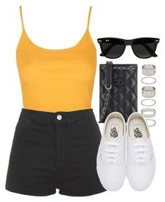 """Sin título #12485"" by vany-alvarado ❤ liked on Polyvore featuring Topshop, Chanel, Forever 21, Vans and Ray-Ban"