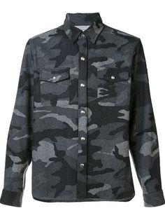 MONCLER GAMME BLEU camouflage shirt. #monclergammebleu #cloth #shirt