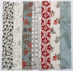 Nifty strip-piecing trick — Bloom How to quickly stitch up a randomised panel of patchwork squares. Strip Quilt Patterns, Jelly Roll Quilt Patterns, Beginner Quilt Patterns, Quilting Tutorials, Quilting Projects, Quilting Designs, Quilting Tips, Beginner Quilting, Sewing Tutorials