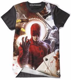 acf7e4da65e This all over print t-shirt lets you remember Daredevil s awesomeness as a  Marvel Superhero. If you are a Daredevil