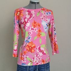 "50% Off Bundles! LRL Bright Floral Sweater Limited Time Only- 50% Off Bundles! Ask me to create your bundle. Lauren by Ralph Lauren Bright Floral Silk Blend Sweater. Very soft and comfy, lighter weight. Size M measures: 16"" across shoulders, 19"" across chest, 23"" long, 18"" sleeve. 64% silk, 20% nylon, 12% cotton, 4% stretch. 1125/350/010716 Ralph Lauren Sweaters Crew & Scoop Necks"