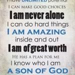 Positive Affirmations Printable - for Boys