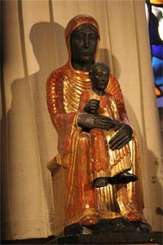 black madonna statue | The Black Madonna statue and church of Notre Dame de Marsat