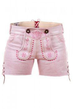 Damen Ledershorts Pink Princess