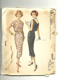 1958 McCalls Easy Rule Dress Pattern no by stillstunningvintage, $5.99