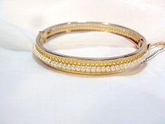 Vintage Gorgeous Faux Seed Pearl Bangle Bracelet by bitzofglitz4u, $38.00