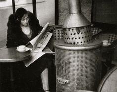 Cafe du Dome, Winter Morning, Paris, 1928 (Andre Kertesz)