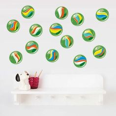 We've collaborated with leading decal experts Your Decal Shop to create a selection of bright, fun wall art decals based on our kiwiana and New Zealand inspired art prints Cool Wall Art, Kiwiana, Wall Decals, Print Design, Dots, Art Prints, Inspiration, Home Decor, Stitches