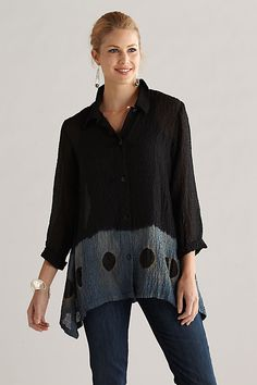 Orchid Blouse: Michael Kane: Silk Top - Artful Home