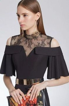 30 Women Blouses To Update You Wardrobe Today - Daily Fashion Outfits 9 Blouse Styles, Blouse Designs, Beauty And Fashion, Daily Fashion, Fashion Today, Sleeves Designs For Dresses, Mode Style, Simple Dresses, Latest Fashion Trends