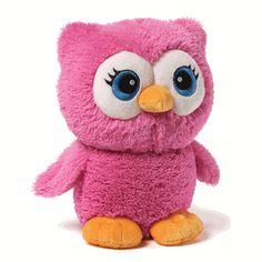 "Bright Eyes the Pink Owl - 8"" - Gund"