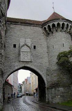 Tallinn old town gate, Estonia