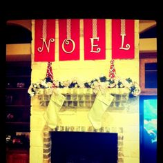 Thank you pinterest for inspiring my mantle :)