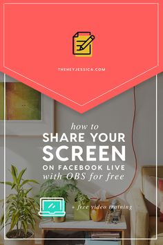 How to Share Your Screen on Facebook Live with OBS from Hey Jessica