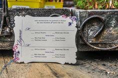 Wedding Invitations by r3mg - www.r3mg.com - Pocketfold, Bronze, Champagne, Purple, Pink, Custom Shape, Elegant, Sophisticated - Response Card