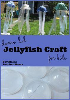 Boy Mama Teacher Mama: Dome Lid Jellyfish Craft for Kids