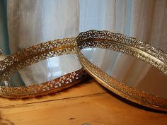 $15 - the quintessential vintage mirrored tray